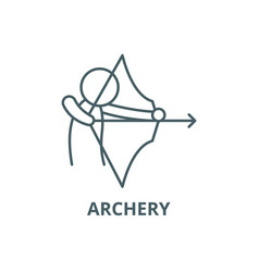 archery line icon archery outline sign vector image