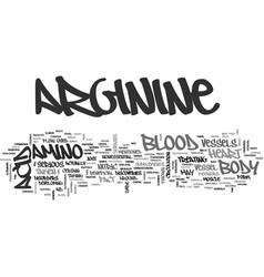 Arginine text word cloud concept vector
