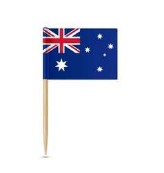 Australia flag toothpick on white background vector image