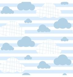 Baboy seamless pattern light blue fun vector