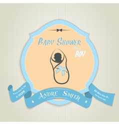 Baby shower invitation with boy vector