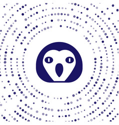 Blue owl bird icon isolated on white background vector