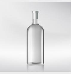 Bottle with alcohol vector