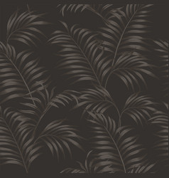 brown tropical leaves seamless taup background vector image