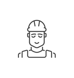 builder concept icon in thin line style vector image