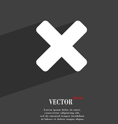 Cancel multiplication icon symbol Flat modern web vector