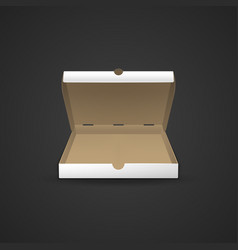 cardboard pizza box mockup vector image