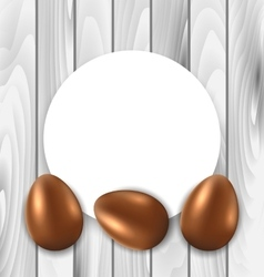 Celebration Card with Easter Chocolate Eggs vector