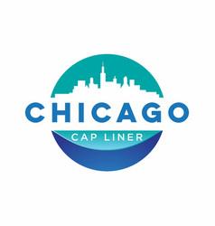 Chicago city logo design vector