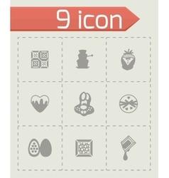 Chocolate icon set vector