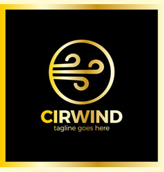 circle wind wave logotype vector image