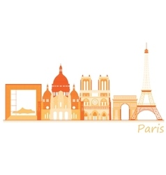 City of Paris world famous places panorama vector image