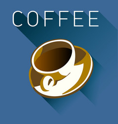 Coffee graphic in multiple colors vector
