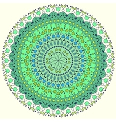 Colorful round ornate vector image