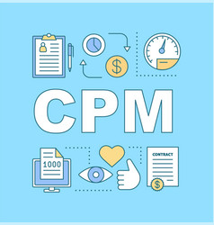 cpm word concepts banner vector image