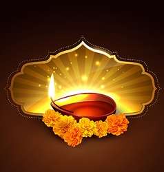 diwali festival design vector image
