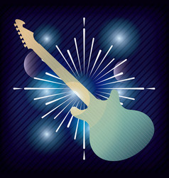 Electric guitar icon music and sound design vector