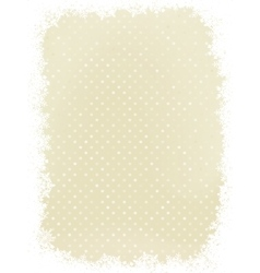 Elegant polka dot with snowflakes EPS 8 vector image