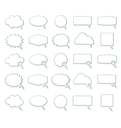 Empty speech bubbles icons vector image