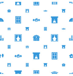 Exterior icons pattern seamless white background vector