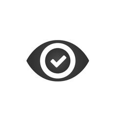 Eye check mark icon success monitoring parental vector