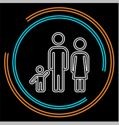 family icon people silhouette father mother child vector image