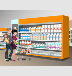 family shopping desig vector image