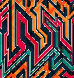 Fantastic maze seamless pattern vector