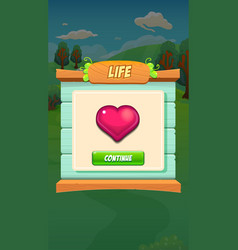 Farm fruits level completed screen - mobile game vector