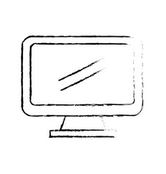 figure computer electronic technology with vector image