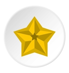 Five pointed celestial star icon flat style vector