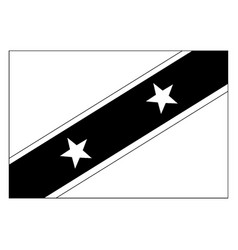 Flag of saint kitts and nevis 2009 vintage vector
