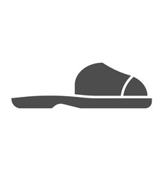 flip flops solid icon summer shoes vector image