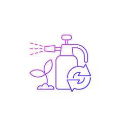 Garden chemicals refill gradient linear icon vector