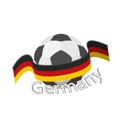 German football team icon cartoon style vector