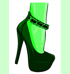 girls in high heels fashion vector image
