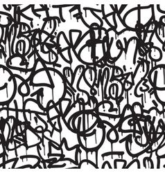 Graffiti background seamless pattern vector image