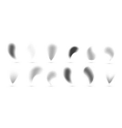 Halftone gradient shapes dots comic effect vector
