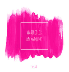 Hand drawn watercolor pink magenta texture vector