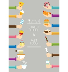 Hands Holding Food vector