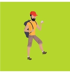 Hiker Traveller vector image
