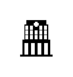 hospital building front icon vector image