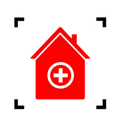 hospital sign red icon vector image