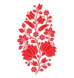 Hungarian red folk pattern - Kalocsai embroidery vector image