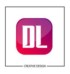 initial letter dl logo template design vector image