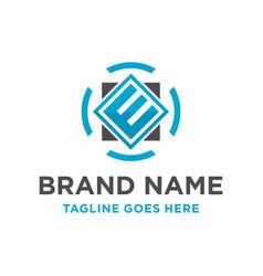 initial logo e vector image