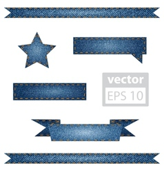Jeans Ribbons vector image