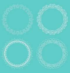 lace style borders vector image