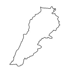lebanon map of black contour curves of vector image