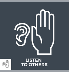 Listen to others vector